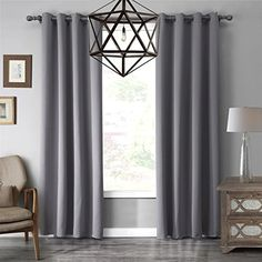 solid grommet top thermal insulated window blackout curtain for living roombedroom multi sizes and colors