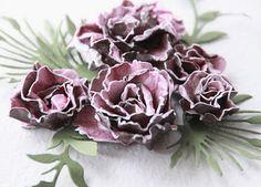 Спиральные скрап-цветы от AGNIESZKA