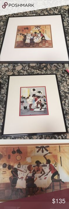 """Famous Artist """"Annie Lee"""" Set of 2 Framed Prints🌼 Famous Artist """"Annie Lee"""" Set of 2 Framed Prints🌼""""Six No Uptown"""" & """"Burn You Baby"""" Annie Lee Other"""