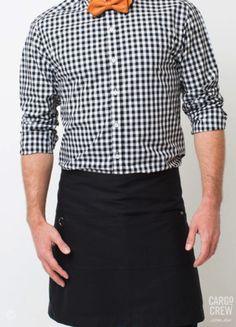 The Tokyo waist apron in black has understated style with cool industrial hardware detailing. More at cargocrew.com.au