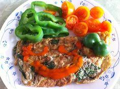 煎九層塔蛋+蔬菜
