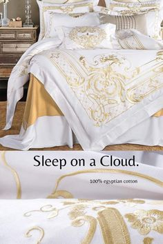 Room Design Bedroom, Bedroom Décor, Bed Cover Sets, Luxurious Bedrooms, Beautiful Bedrooms, Comforter Sets, Luxury Bedding, Bed Spreads, Egyptian Cotton