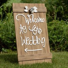 Found it at Wayfair - Welcome to Our Wedding Sign