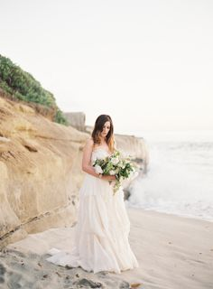 Golden Hour Bridal Session by the Sea | Wedding Sparrow | Emily Jane Photography