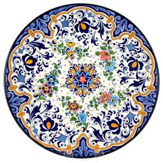 Decorative Hand Painted Plate - CER-AZAHARA1-31