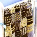 DIY Knitting DIY Yarn : DIY Knitted patchwork quilt