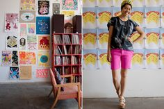 Meet super-cool girl next-door Rebecca Goldschmidt and peep her ultra-creative Oakland pad.