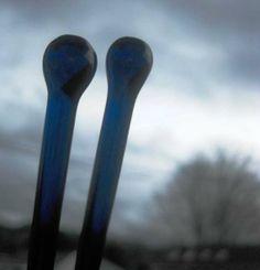 Glass Circular Knitting Needles in Cobalt Blue Colorway