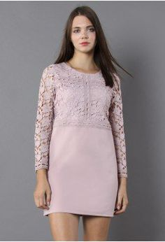 Applause of Lace Shift Dress in Pink - Dress - Retro, Indie and Unique Fashion