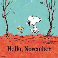 Snoopy Comics, Peanuts Cartoon, Peanuts Snoopy, Wallpaper Free, Iphone Wallpaper, Snoopy Und Woodstock, November Wallpaper, November Quotes, Snoopy Pictures