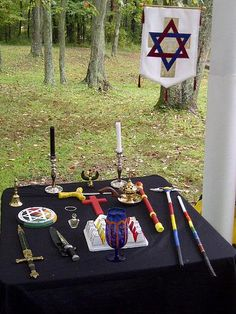 Hermetic Order of the Golden Dawn - Outdoor altar of the HOGD-ORA group in West Viginia