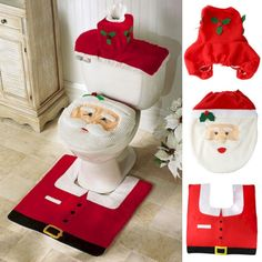 Outstanding So Beautiful Christmas Gift Decorations Bathroom Toilet Seat Carpet 20 Most Awesome