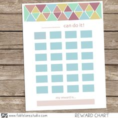 Sweet rewards | Reward charts for kids