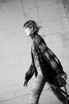 Zigzags, knitwear and fringing features heavily in the house's kaleidoscopic new collection Missoni AW16
