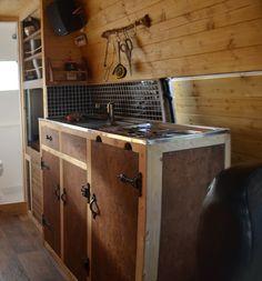 DIY Campervan Conversion   Do-It-Yourself Kitchen   Sink   Utensil Storage   Tile   vandogtraveller.com