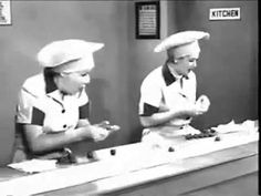 I Love Lucy Episode 39 - Filmed 5/30/52  Story: Ricky and Fred think doing housework is much easier than earning money. Lucy and Ethel feel the opposite. So the boys try doing the housework while the girls attempt to hold down a job at a candy factory.