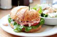Does the word 'sandwich' leave you uninspired? In this post, we offer up a lineup of 15 sensational sandwiches that are the best things since sliced bread. Best Sandwich, Sandwich Recipes, Salad Sandwich, Giant Food, Shrimp Salad, Shrimp Recipes, Salmon Burgers, Street Food, Sandwiches