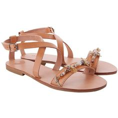 IRISANDALS Anemone Sandals (655 PEN) ❤ liked on Polyvore featuring shoes, sandals, beaded sandals, wide shoes, evening sandals, transparent sandals and ball shoes
