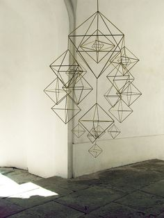 Himmeli Hanging Mobile by AMradio modern mobiles Mobiles, Hanging Ornaments, Sacred Geometry, Installation Art, Geometric Shapes, Etsy, Design Inspiration, Brass, Beautiful