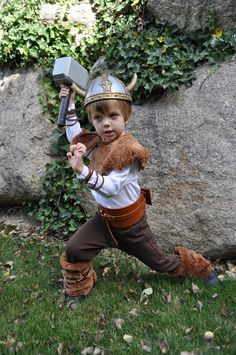 Viking Costume  - 33 Easy And Interesting DIY Halloween  Costumes For Kids