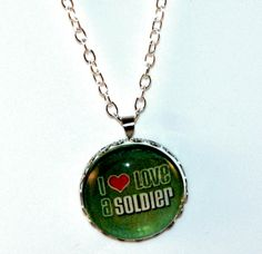 I Love a Soldier Necklace/Pendant-Perfect for the military girlfriend, mom or wife. Keepsake necklace great for Mother's Day  https://www.etsy.com/listing/187618426/i-love-a-soldier-necklacependant-perfect?ref=shop_home_feat_3