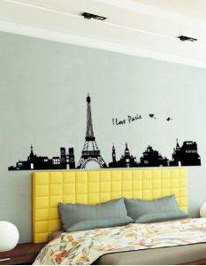 I Love Paris Eiffel Decalque Adesivo Torre