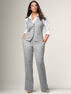 Plus size dress vest style