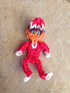 Rainbow Loom ELF on the SHELF. Designed and loomed by Cheryl Spinelli.