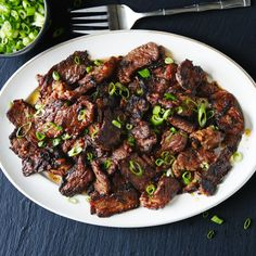 Basic Bulgogi Recipe | Bon Appetit Cutting the meat into very thin strips allows it to absorb the hot-sweet-salty marinade in minutes, not hours.
