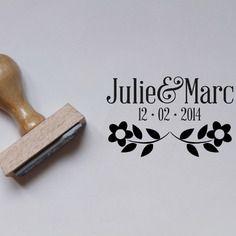 Tampon encreur mariage fleuri - la papeterie de paris Tampons, Creations, Stamp, Paris, Vintage, Etsy, Floral, Save The Date Cards, Paper Mill