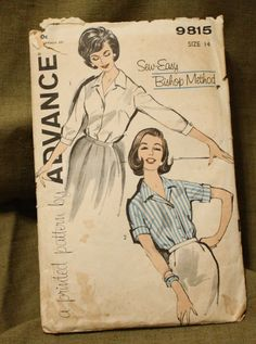 Advance 9815 Vintage 1960s Blouse Sewing by EleanorMeriwether, $5.00
