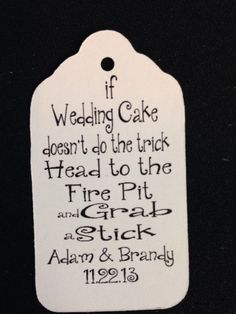 Fire Pit Smore Wedding Cake Medium Wedding by TiaZoeyTeaStained,
