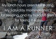 I def don't sleep in on Saturday mornings and get a run in early on holidays and love lunch hour running! :) - When running becomes a part of life. Running Quotes, Running Motivation, Fitness Motivation, Running Memes, Running Inspiration, Motivation Inspiration, Fitness Inspiration, Workout Inspiration, I Love To Run