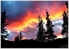 1st encounter of Alpenglow Alaska Summer Sky - August 2007.