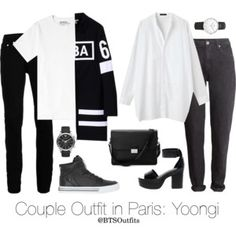 Couple Outfit in Paris: Yoongi