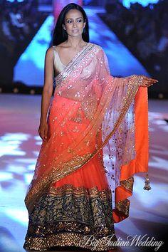 Suchitra Pillai in a Manish Malhotra bridal lehenga