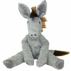 Organic Cotton Gray Donkey. Handmade in Germany and stuffed with pure lambswool. Adorable! $59.95