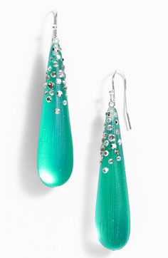 Alexis Bittar 'Diamond Dust' Teardrop Earrings (Nordstrom Exclusive) available at #Nordstrom  Got these in the green color - SO pretty!