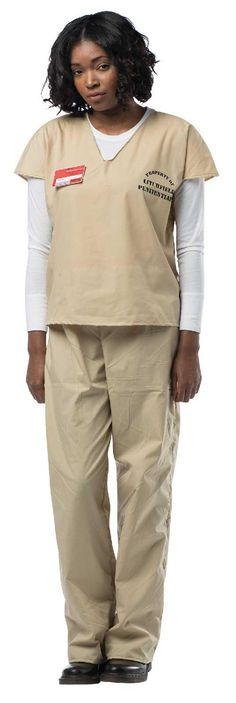 Orange is the New Black Beige Prisoner Jump Suit from BuyCostumes.com