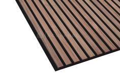 Acupanel® Contemporary Walnut Acoustic Wood Wall Panel   Wall Paneling Wood Panel Walls, Wood Paneling, Wood Wall, Wall Panelling, Plasterboard Wall, Front Porch Design, Insulation Materials, Home Design Decor, Interior Design