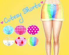 Sul–sul: Cutesy Shorts Recolored EA Shorts. :)