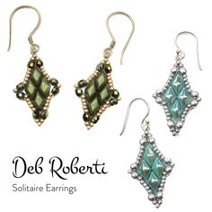 Free Solitaire Earrings pattern :)