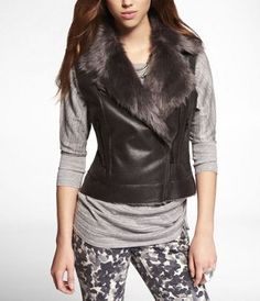 Express Faux Shearling Vest