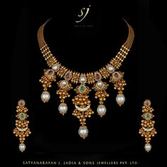 "-""Kali Ganthi Necklace Earrings 