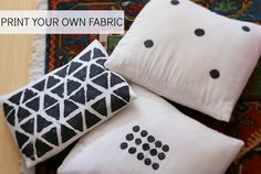 Salsa Pie: Print Your Own Fabric for Throw Pillows