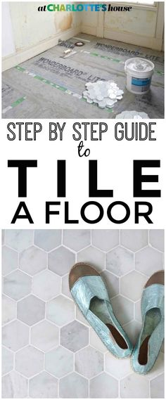 How to tile a bathroom floor... step by step guide!