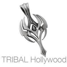 THANATOS Winged Sword Pendant in Silver | Tribal Hollywood