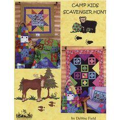CAMP KIDS SCAVENGER HUNT PATTERN BOOK, from Granola Girl Designs, *NEW*