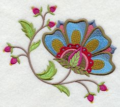 Jacobean flower from Etsy
