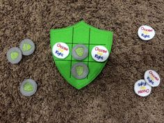 """CTR Tic Tac Toe - Has """"Choose the Right"""" and """"CTR"""" shield pieces."""